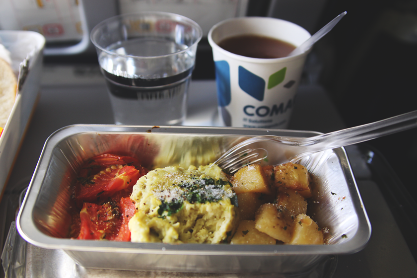 Lunch on the plane.