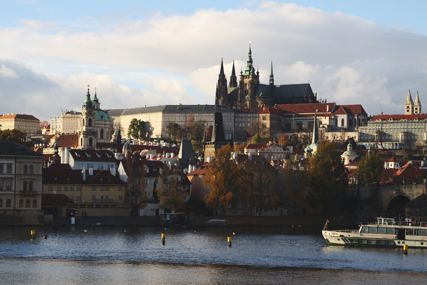 Prague river view