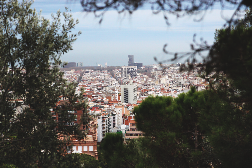 Park Güell view day