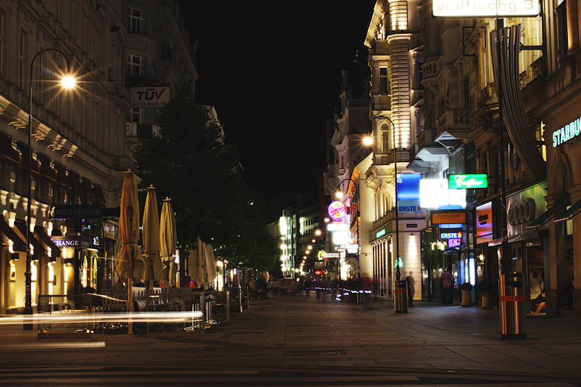 Vienna At Night Graben