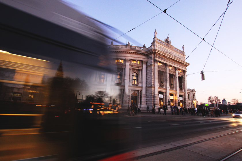 Burgtheater and tram Vienna