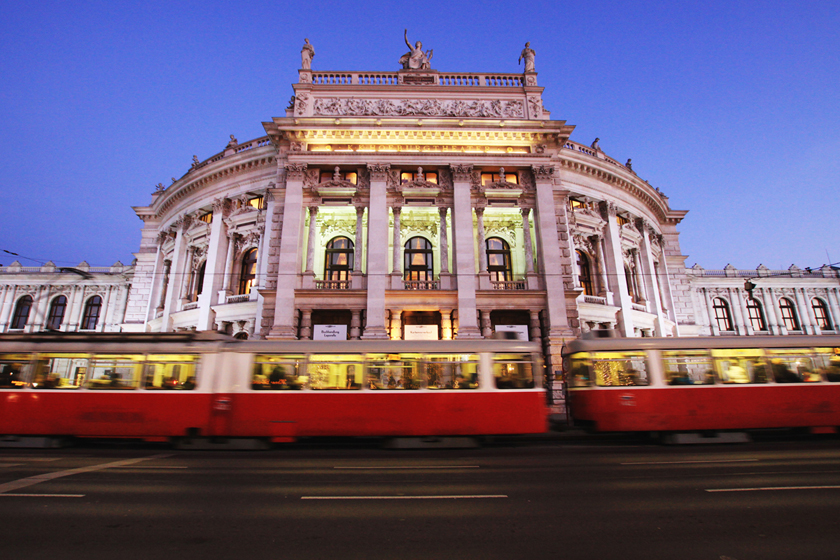 Burgtheater at Night